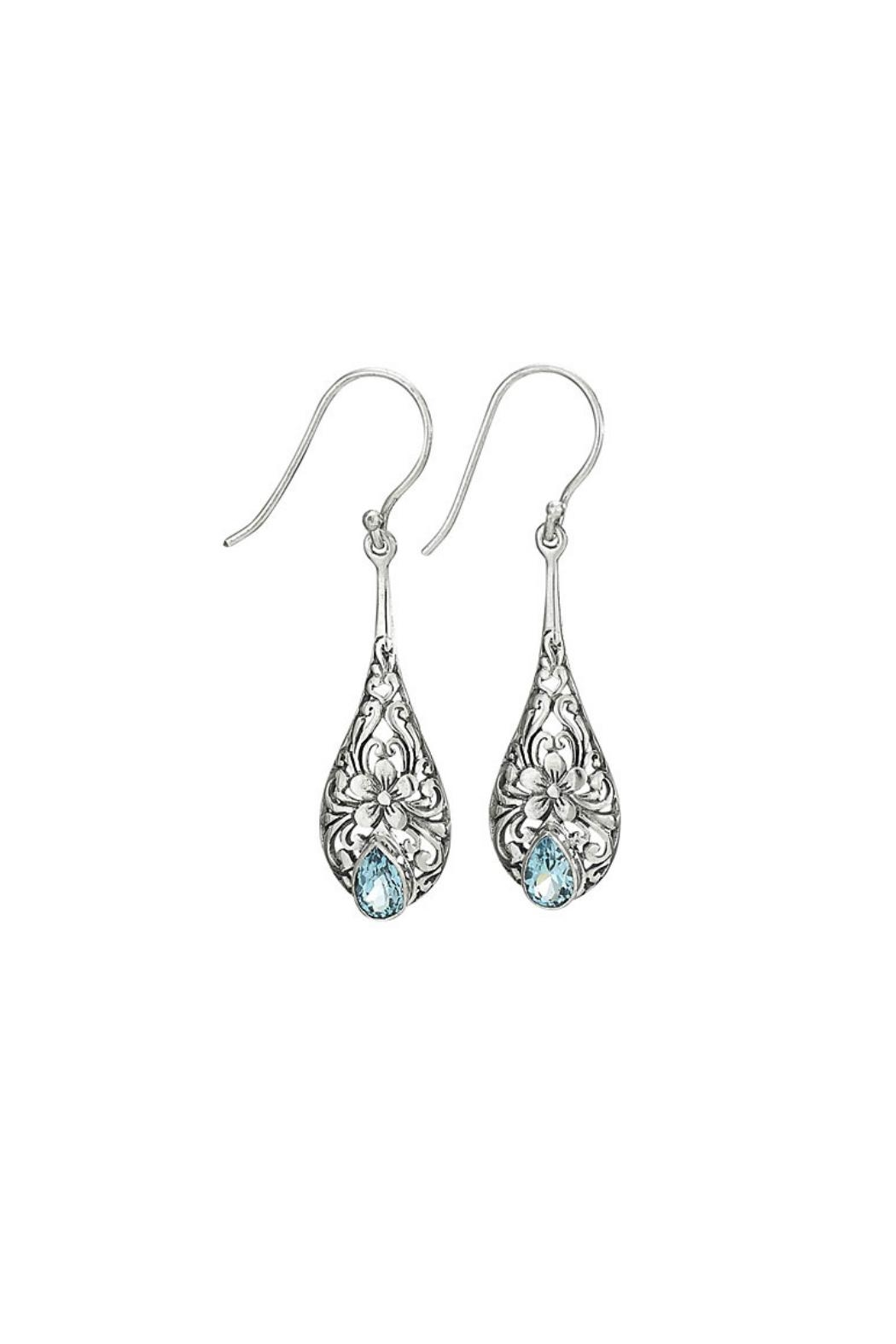 Tiger Mountain Dainty Blue Topaz Earrings - Front Cropped Image