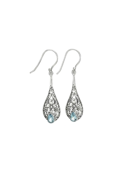 Shoptiques Product: Dainty Blue Topaz Earrings