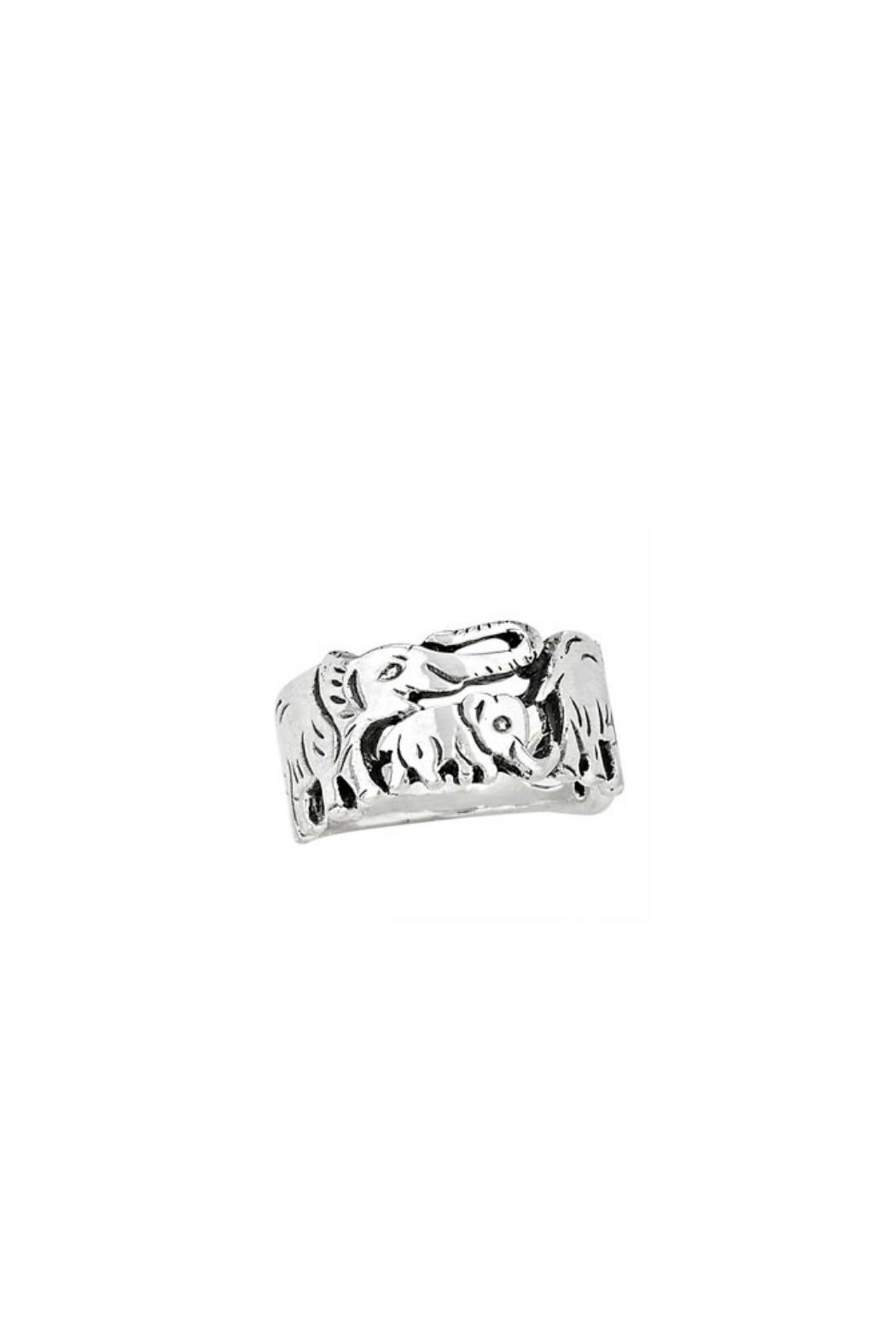 Tiger Mountain Elephant Family Ring - Front Cropped Image
