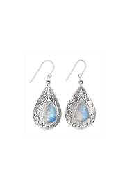 Tiger Mountain Etched Moonstone Earrings - Front cropped