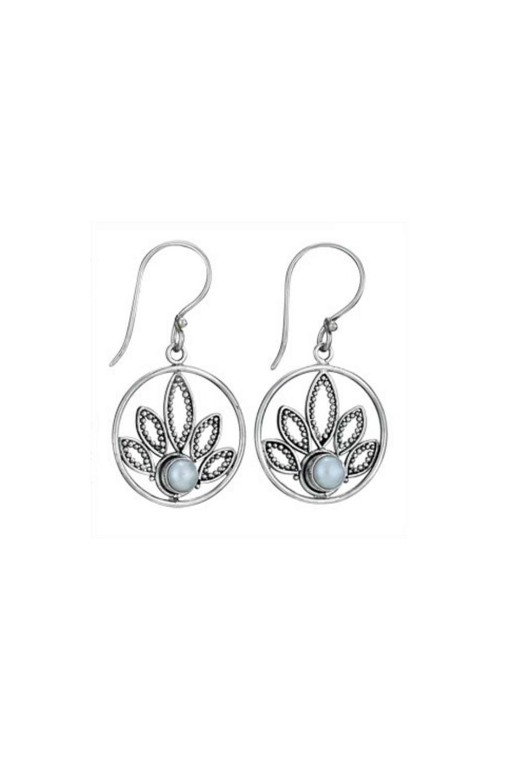 Tiger Mountain Lotus Pearl Earrings Front Cropped Image