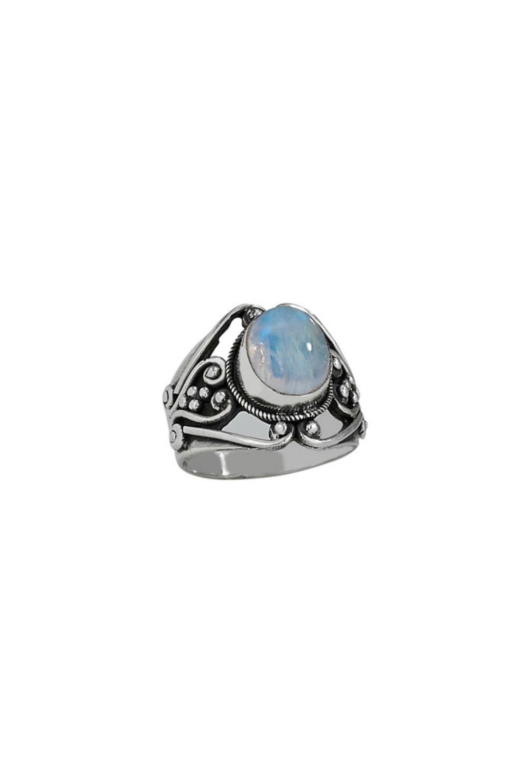 Tiger Mountain Moonstone Ring - Front Cropped Image