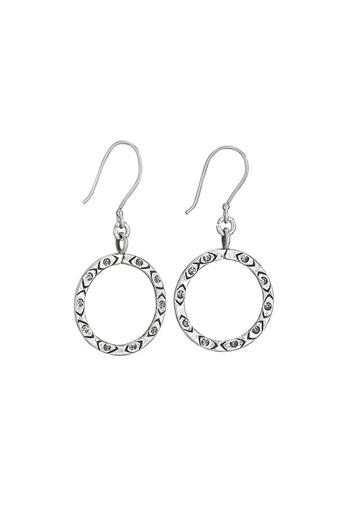 Tiger Mountain Open Circle Stamped Earrings - Main Image