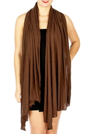 TIGERLILY Brown Diagonal Scarf - Front cropped