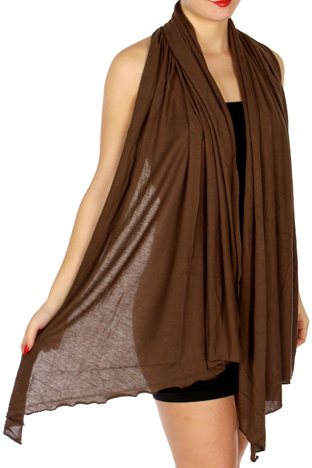 TIGERLILY Brown Diagonal Scarf - Front Full Image