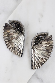 TIGERLILY Embellished Wing Earring - Front cropped