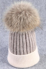 TIGERLILY Fur Pompom Hat - Product Mini Image