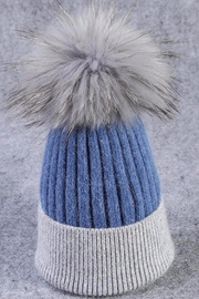 TIGERLILY Fur Pompom Hat - Front cropped