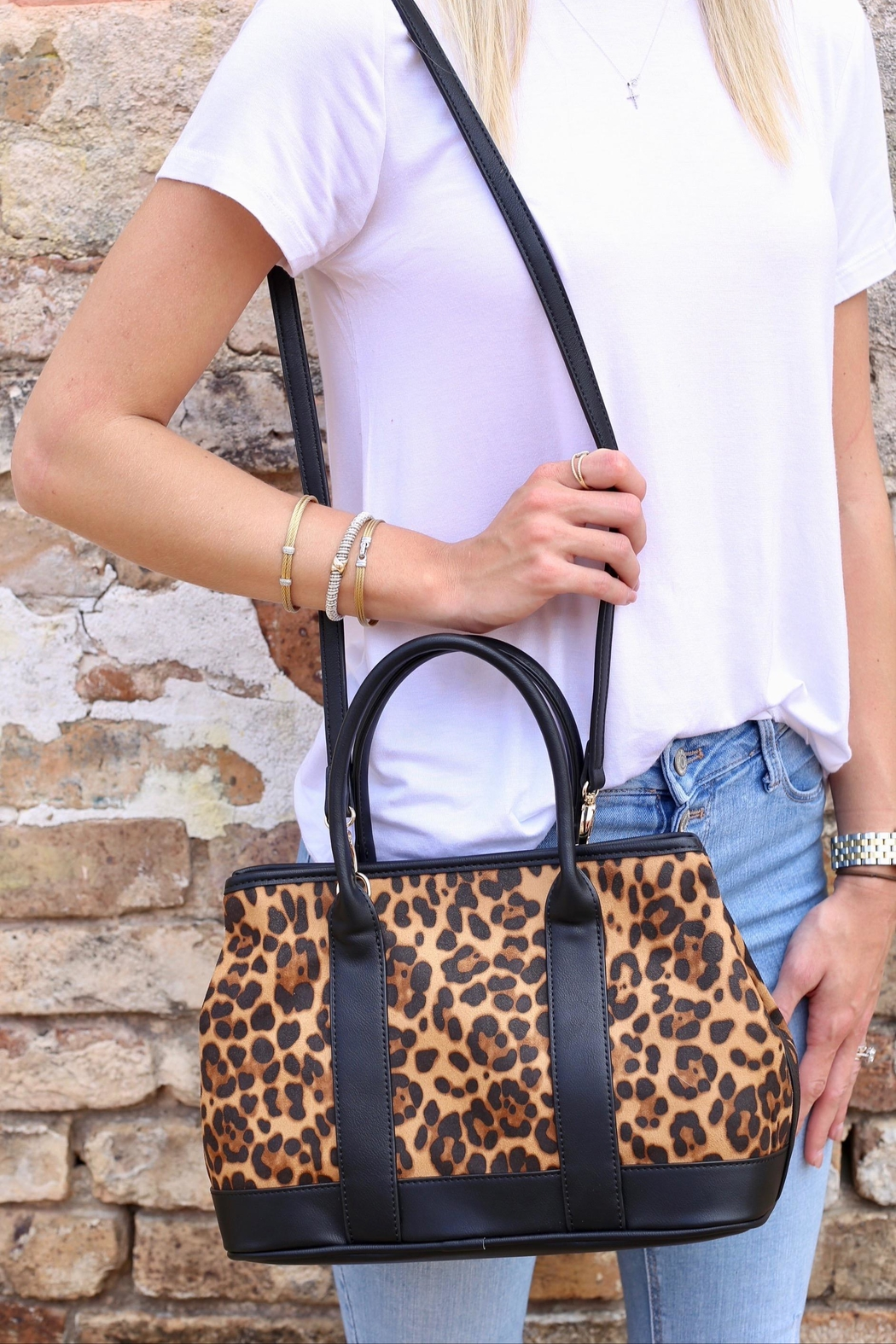 TIGERLILY Mini Tote Crossbody - Front Cropped Image
