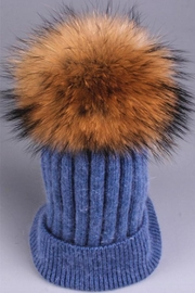 TIGERLILY Mink Pompom Hat - Product Mini Image