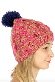 TIGERLILY Multi-Color Pompom Hat - Front full body
