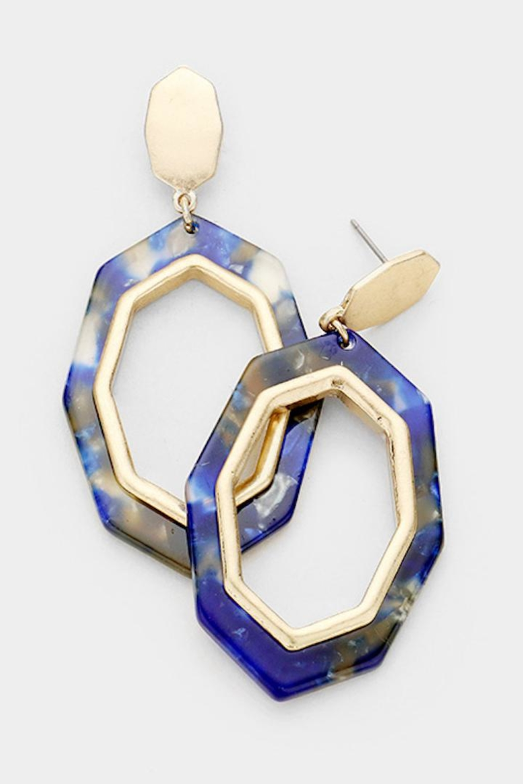 TIGERLILY Blue Octagon Earring - Main Image