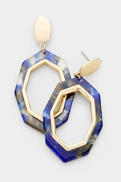 TIGERLILY Blue Octagon Earring - Alternate List Image