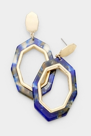 TIGERLILY Blue Octagon Earring - Front cropped