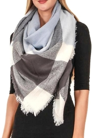 TIGERLILY Plaid Oversized Scarf - Front cropped