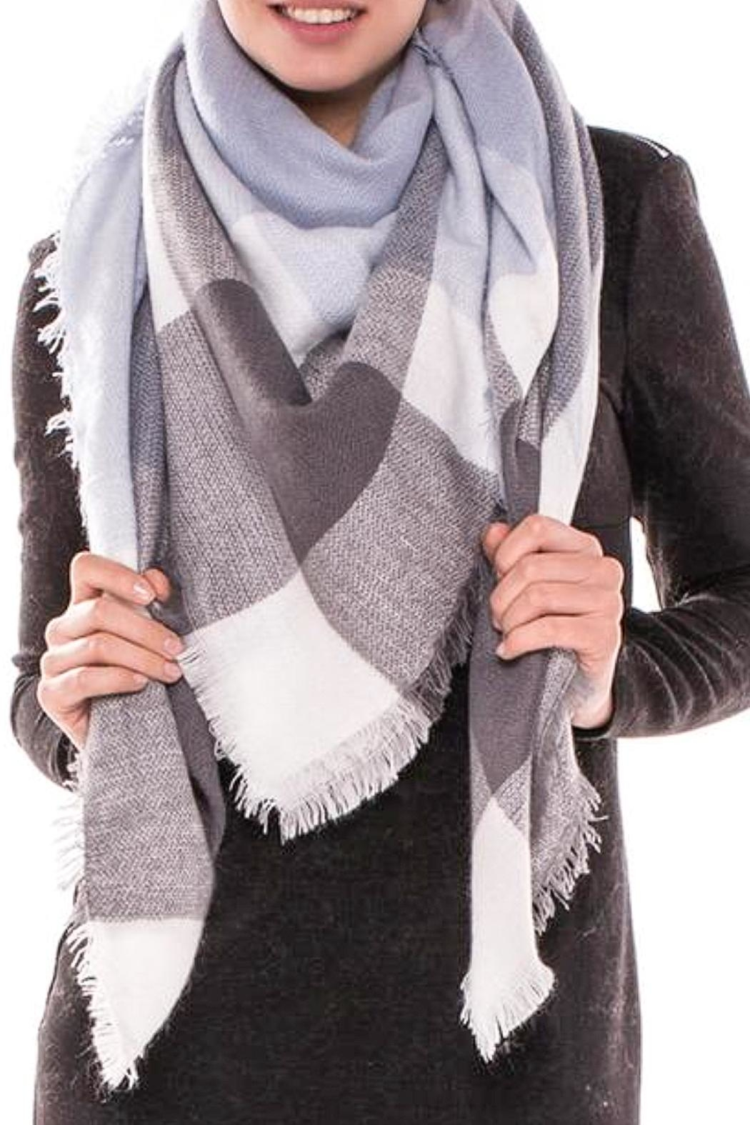 TIGERLILY Plaid Oversized Scarf - Front Full Image