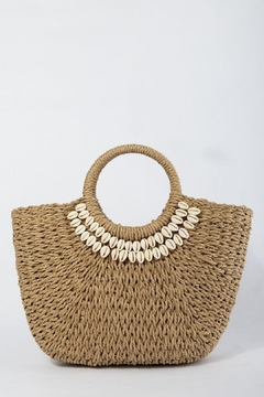 TIGERLILY Shell Straw Bag - Product List Image