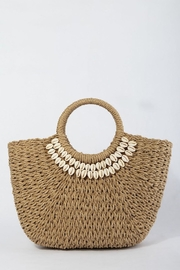 TIGERLILY Shell Straw Bag - Front cropped