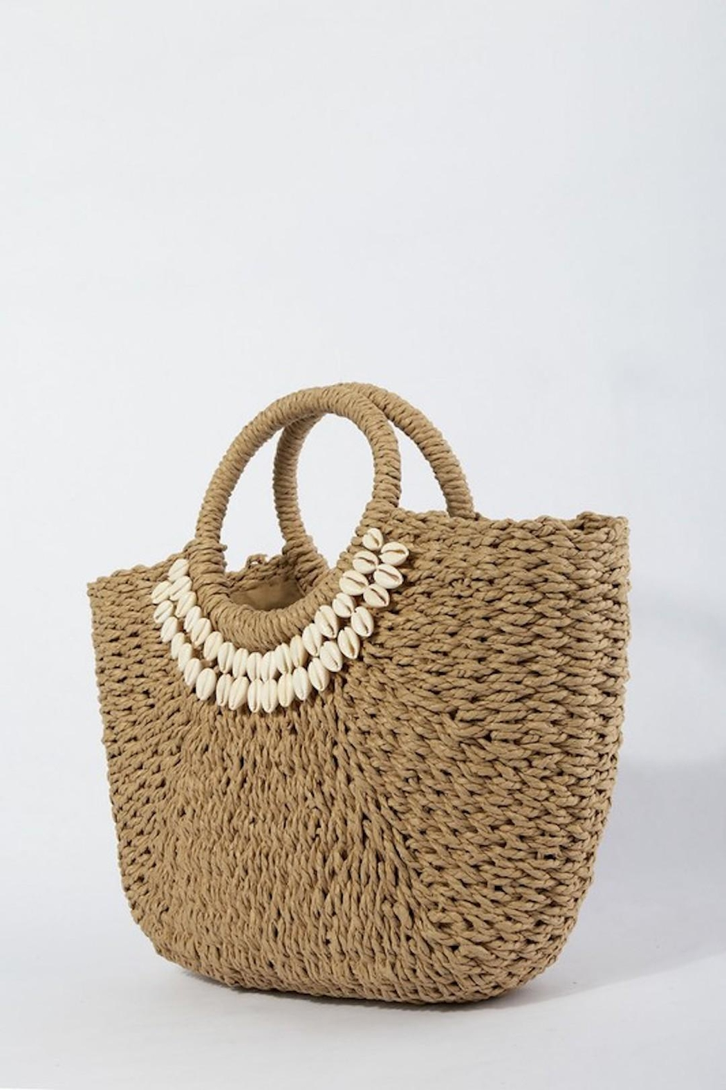 TIGERLILY Shell Straw Bag - Back Cropped Image