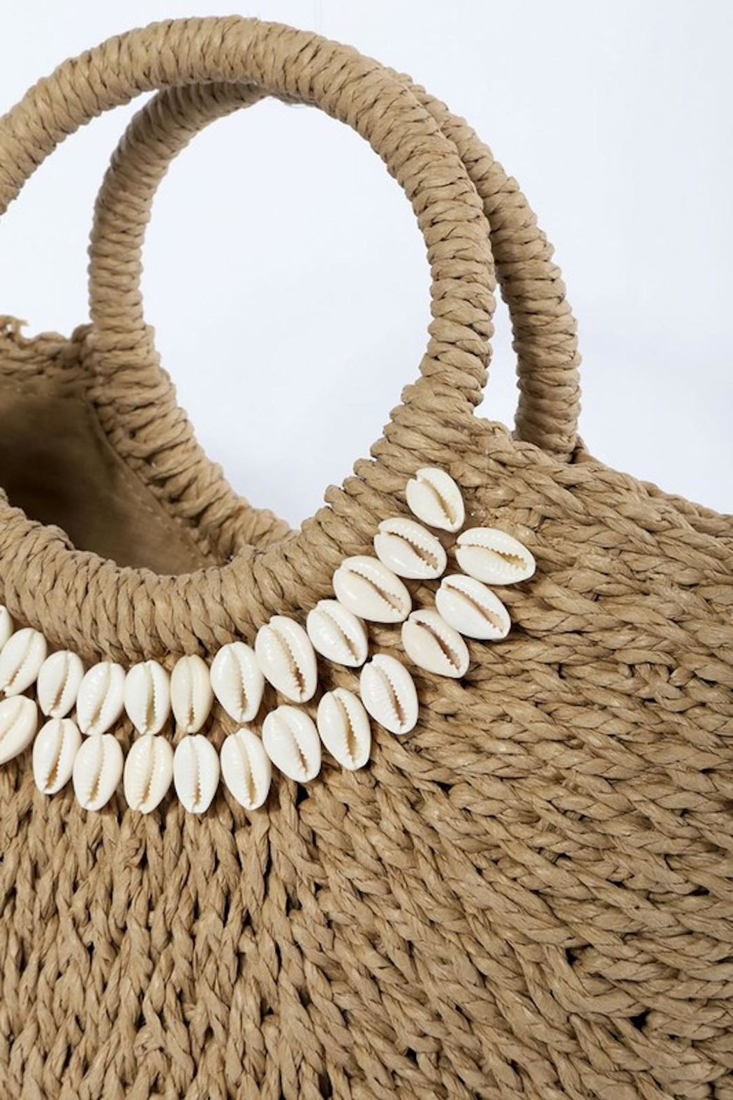TIGERLILY Shell Straw Bag - Front Full Image