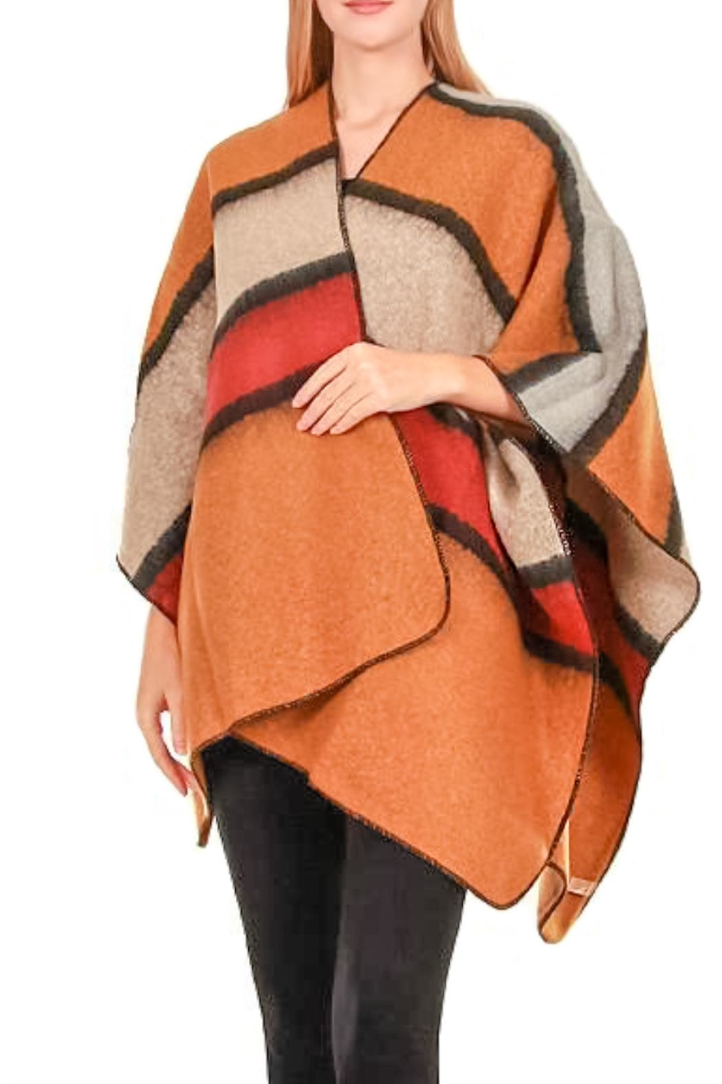 TIGERLILY Stripe Cape/shawl - Front Cropped Image