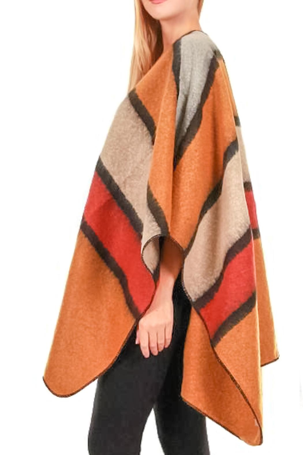 TIGERLILY Stripe Cape/shawl - Side Cropped Image