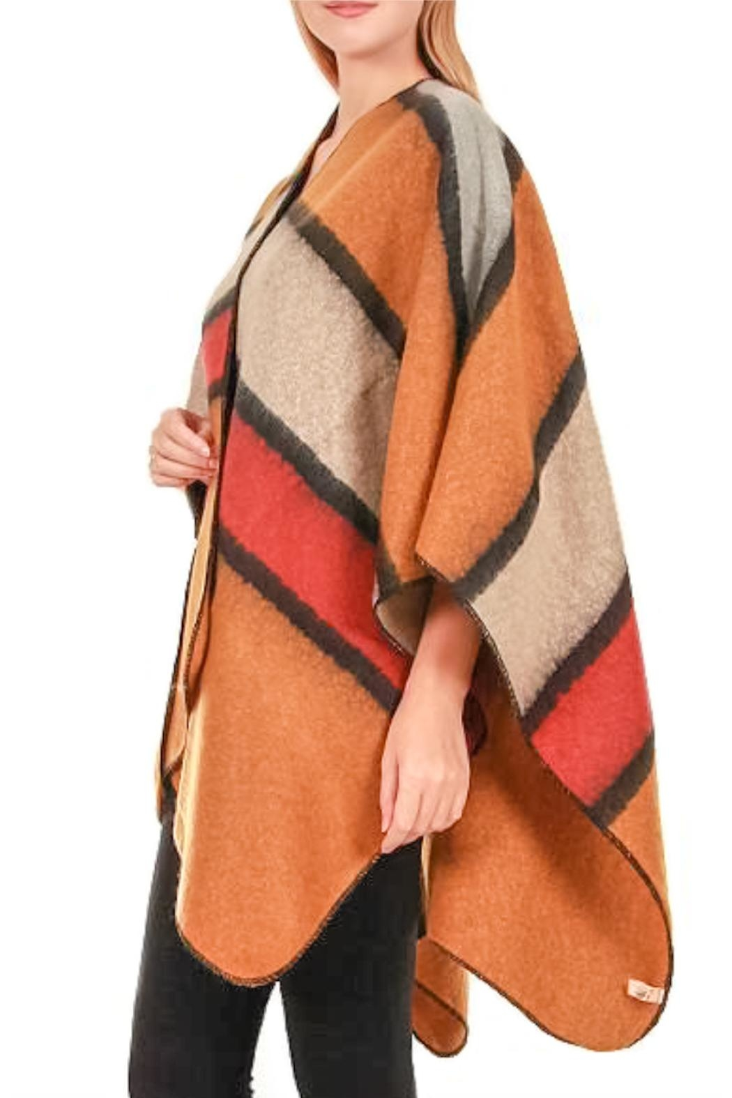TIGERLILY Stripe Cape/shawl - Front Full Image