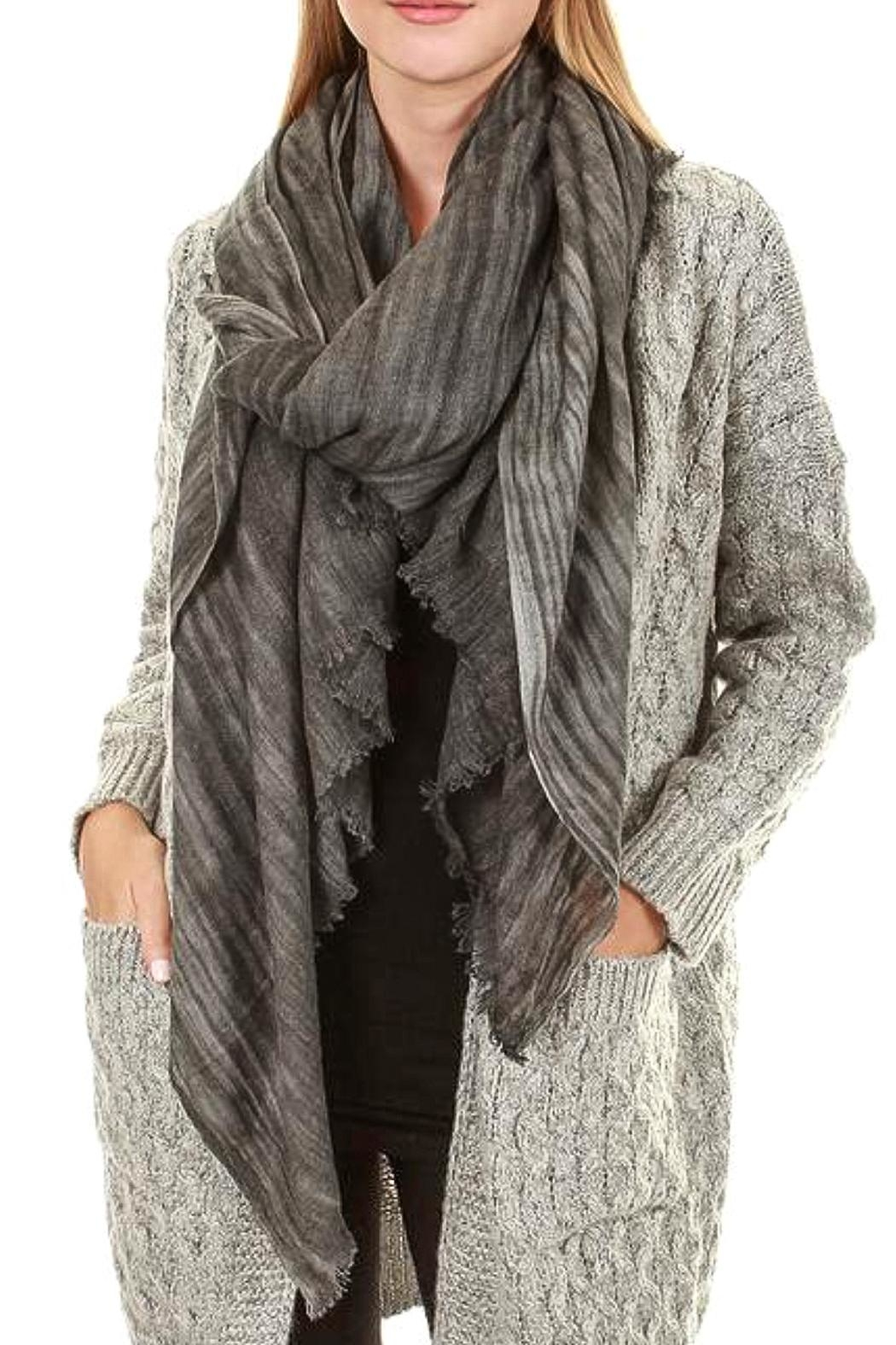 TIGERLILY Stripe Cashmere Scarf - Main Image