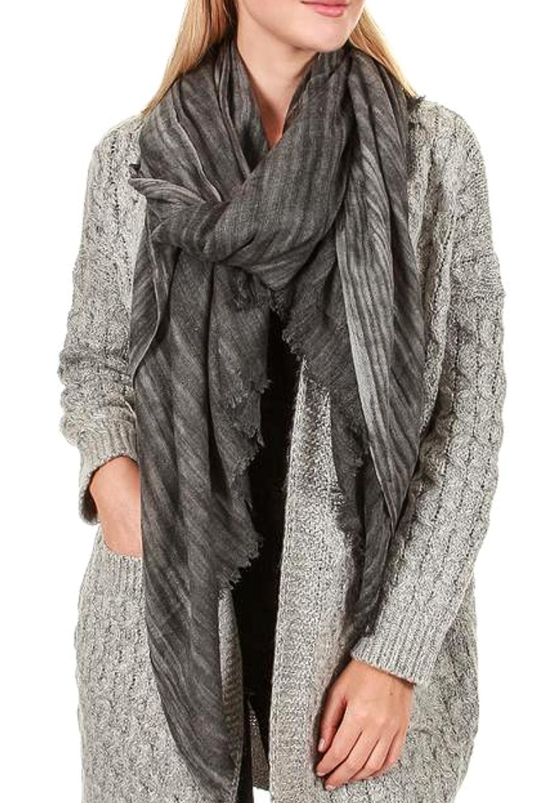 TIGERLILY Stripe Cashmere Scarf - Front Full Image