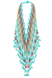 TIGERLILY Turquoise Beaded Necklace - Front cropped