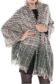 TIGERLILY Tweed Blanket Scarf - Front full body