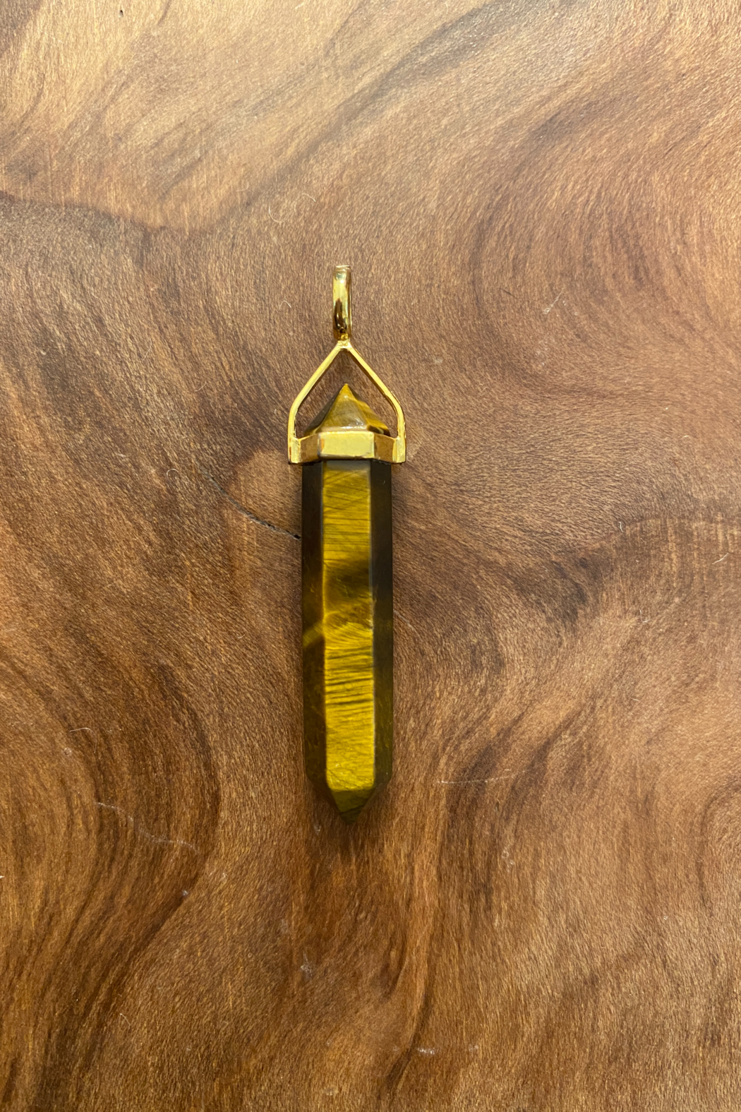 tesoro  Tigers Eye Point Pendant - Main Image