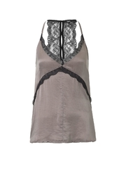 Tigha Halter Lace Top - Front full body