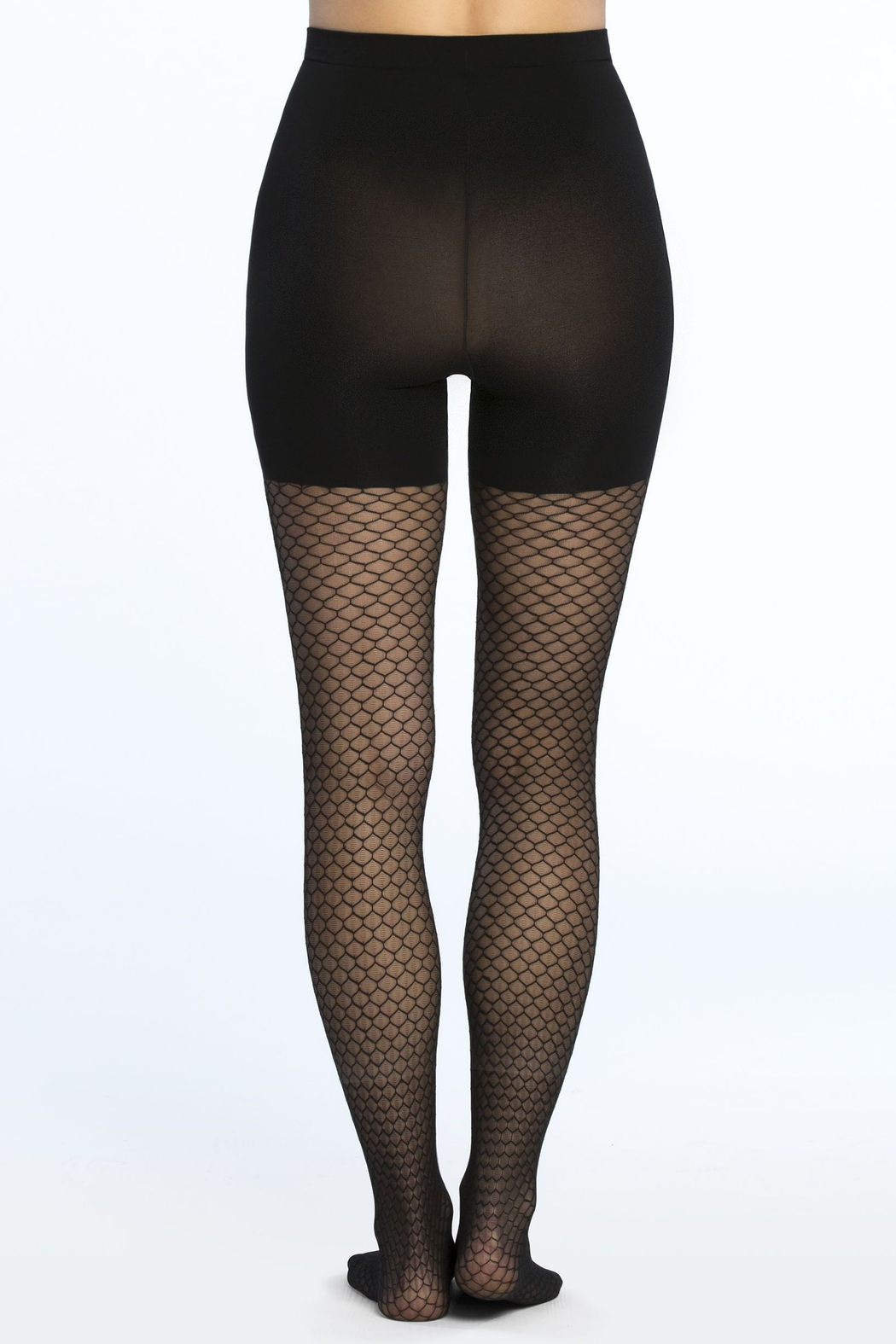Spanx Tight-End Tights - Honeycomb Fishnet - Side Cropped Image