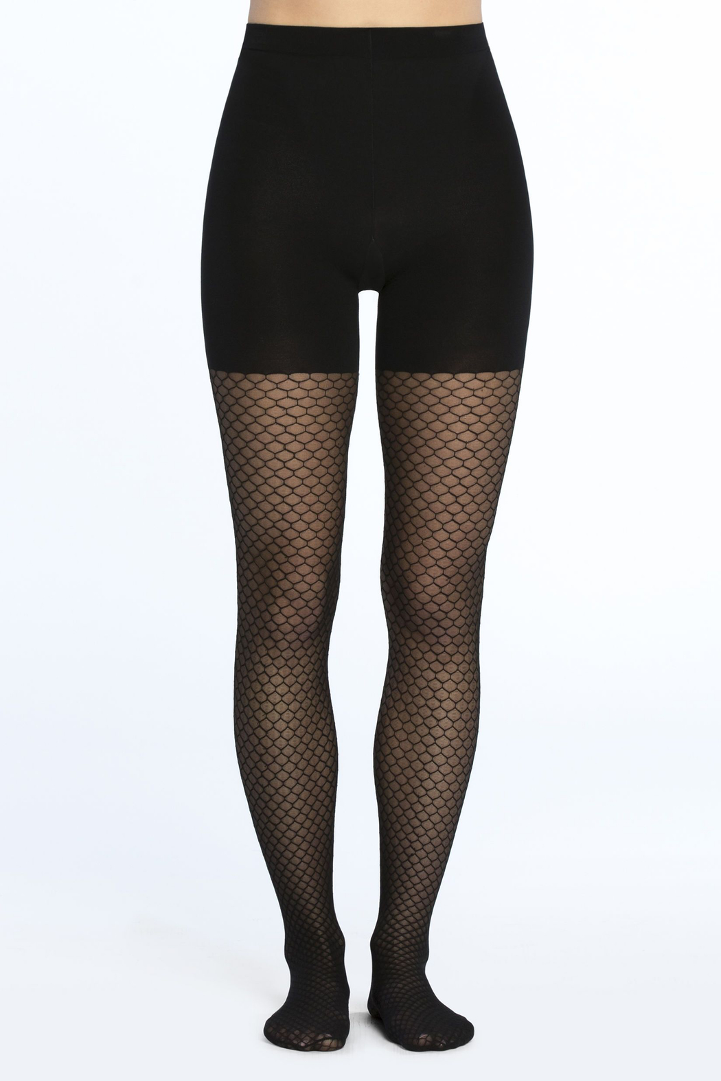 Spanx Tight-End Tights - Honeycomb Fishnet - Front Full Image