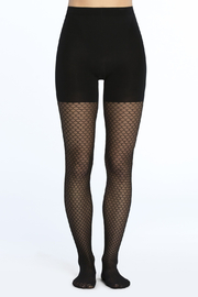 Spanx Tight-End Tights - Honeycomb Fishnet - Front full body