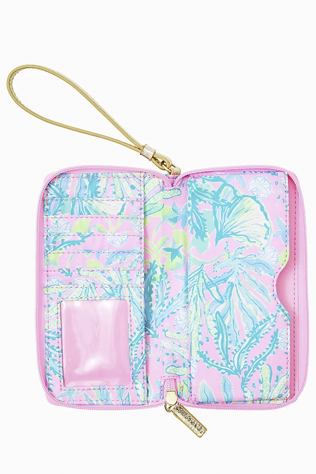 Lilly Pulitzer  Tiki Palm Wristlet - Front Full Image