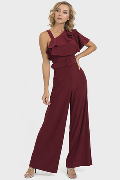 Shoptiques Product: Til Dawn Jumpsuit in Imperial Red