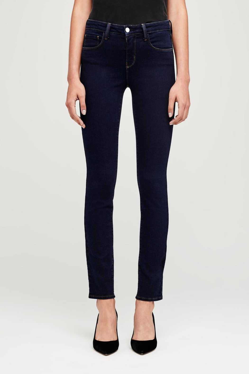 L'Agence Tilly Mid-Rise Jeans - Front Full Image