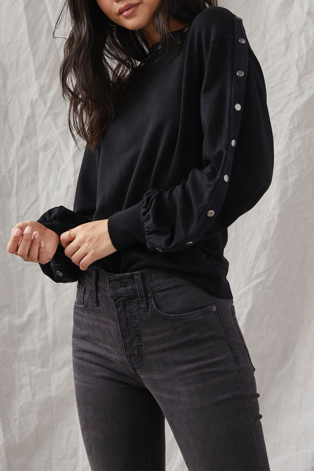 Grey State Tilly Snap-around L/S Top - Main Image