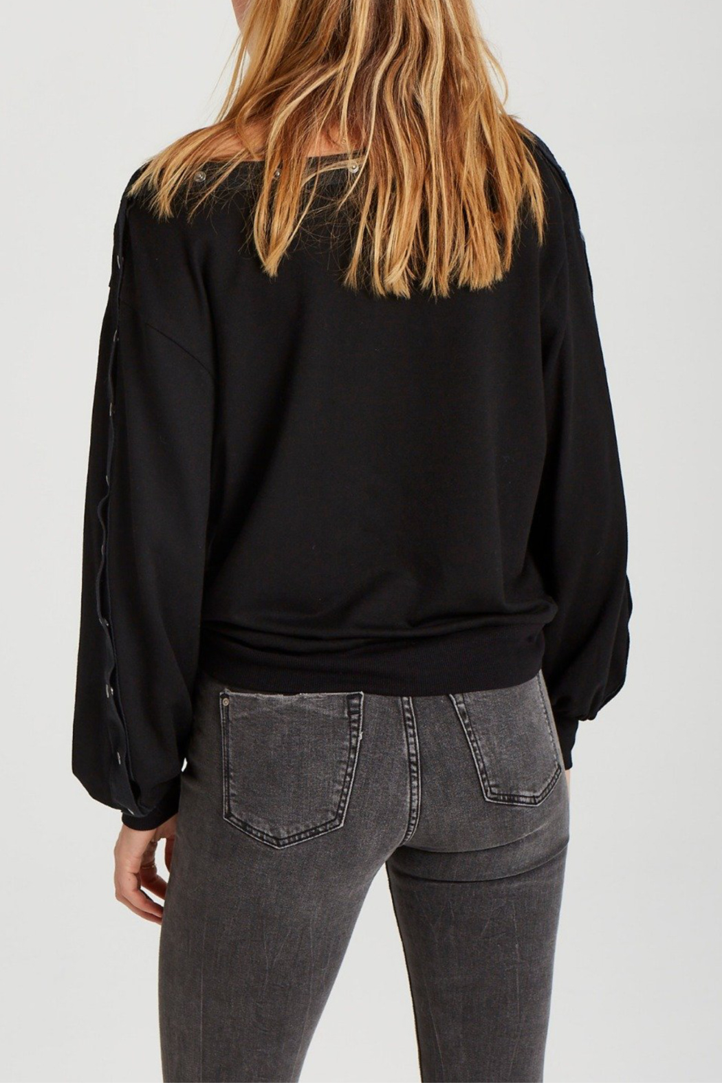 Grey State Tilly Snap-around L/S Top - Side Cropped Image