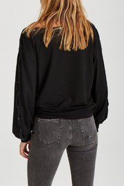 Grey State Tilly Snap-around L/S Top - Side cropped
