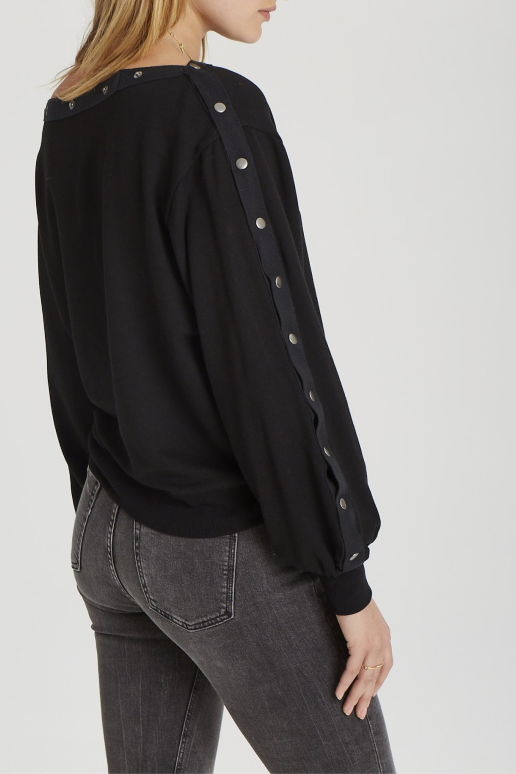Grey State Tilly Snap-around L/S Top - Front Full Image