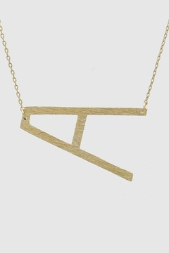 Shoptiques Product: Tilted Initial Necklace