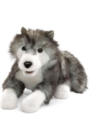 Folkmanis Timber Wolf Puppet - Front cropped