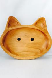 Time Concept, Inc. Wooden Cat Plate - Product Mini Image