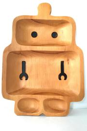 Time Concept, Inc. Wooden Robot Plate - Front cropped