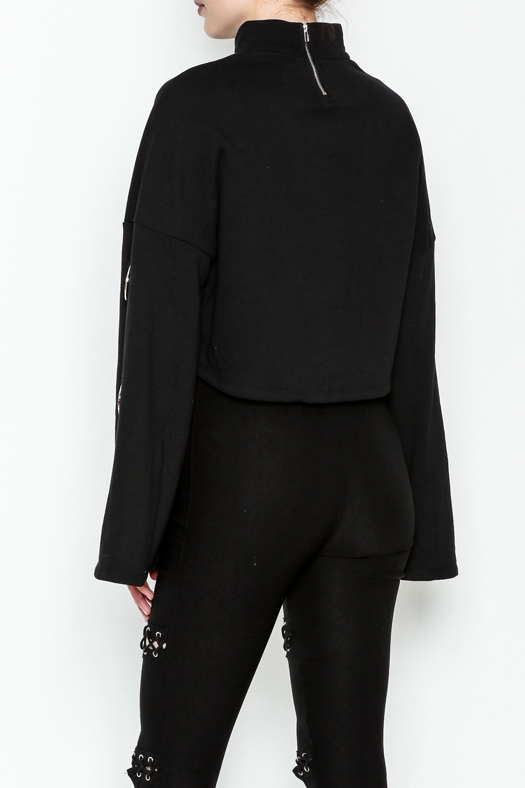 TIMELESS Asher Crop Sweater - Back Cropped Image
