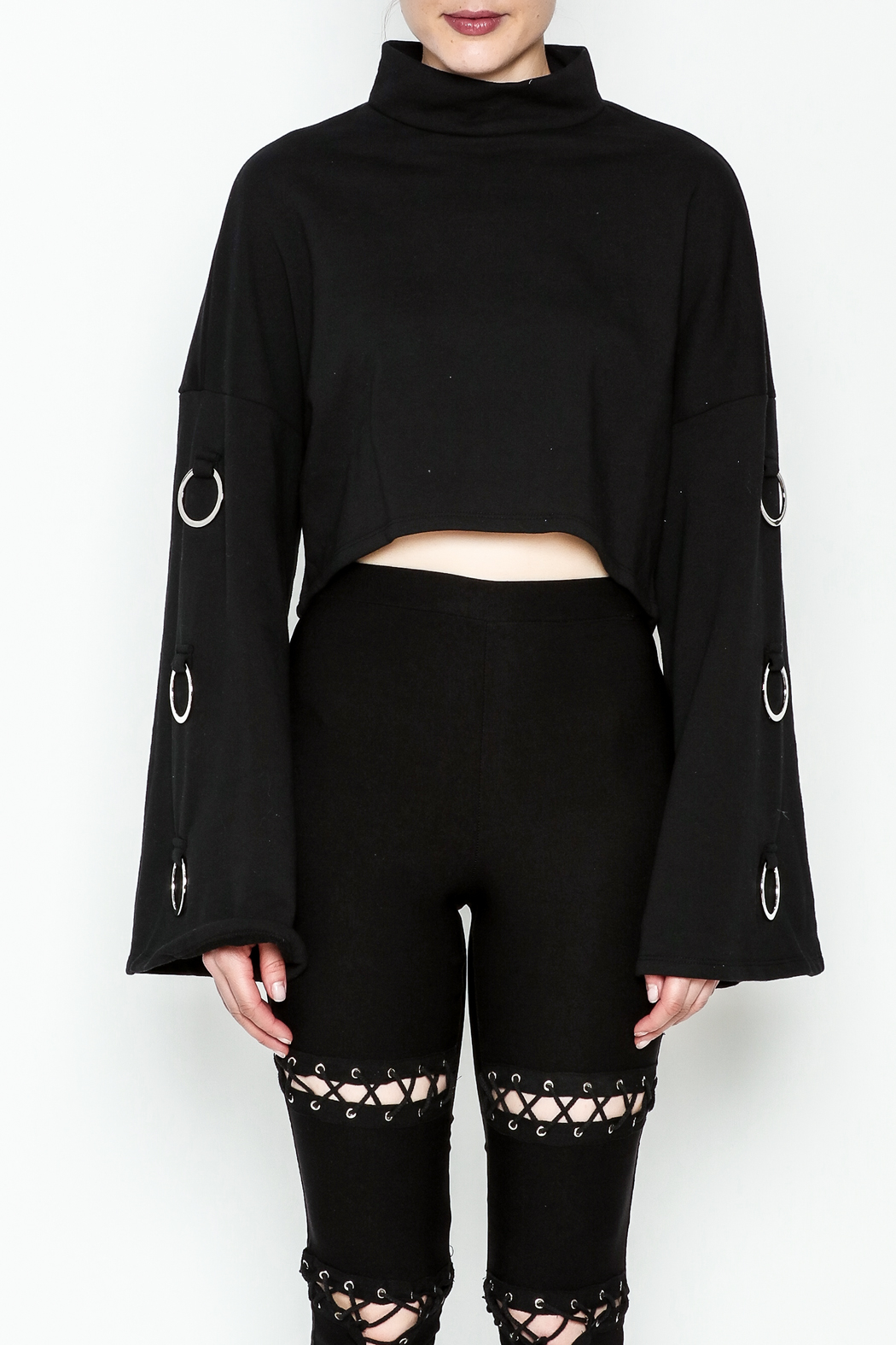 TIMELESS Asher Crop Sweater - Front Full Image
