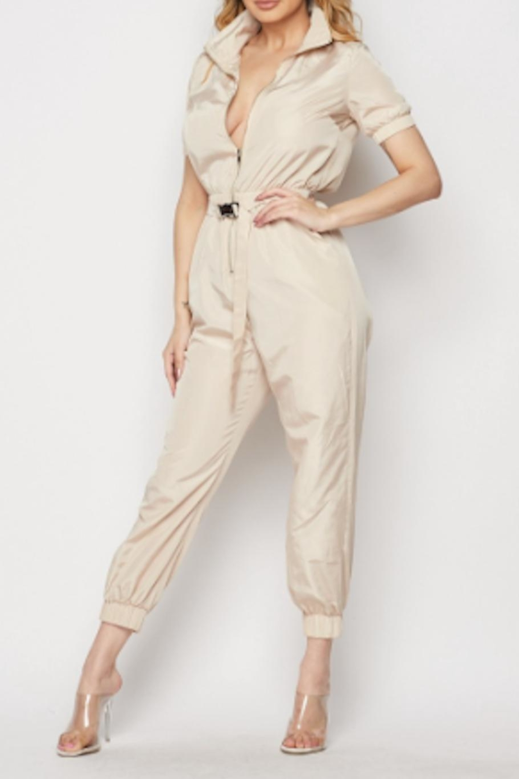 TIMELESS Aviator Jumpsuit - Front Full Image